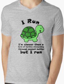 I'm SlowerThen  A Herd Of Turtles Stampeding Through Peanut Butter Mens V-Neck T-Shirt