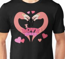 Love Birds - Flamingo Heart Unisex T-Shirt