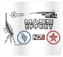 Mass Effect cross stitch sampler Poster