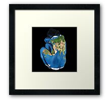 """Great Artists Steal"" Pablo Picasso Inspired Blue Earth Nude Framed Print"