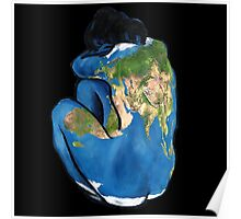 """""""Great Artists Steal"""" Pablo Picasso Inspired Blue Earth Nude Poster"""