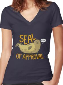 Seal of Approval Women's Fitted V-Neck T-Shirt