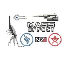Mass Effect cross stitch sampler by dubukat