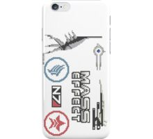 Mass Effect cross stitch sampler iPhone Case/Skin