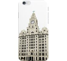 Royal Liver Building - inked on white iPhone Case/Skin