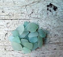 Sea Foam Sea Glass Shades by Teresa Schultz