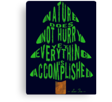 Everything is Accomplished. Canvas Print