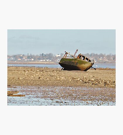 Wreck on the Estuary Photographic Print