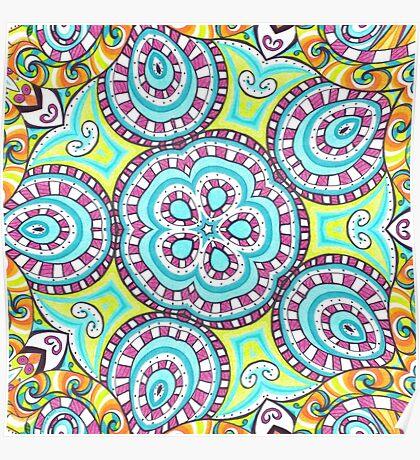 Kaleidoscopic Whimsy Poster