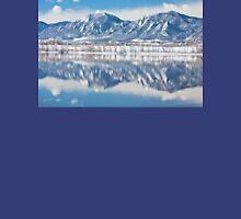 Boulder Reservoir Flatirons Reflections Boulder Colorado Unisex T-Shirt