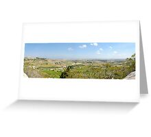 Malta Countryside Panorama  Greeting Card