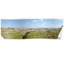 Malta Countryside Panorama  Poster