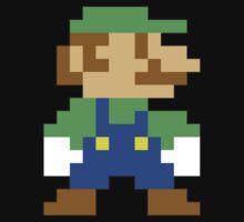 Super Mario 3D World Luigi Sprite One Piece - Short Sleeve