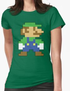 Super Mario 3D World Luigi Sprite Womens Fitted T-Shirt