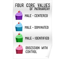 4 Core Values Poster