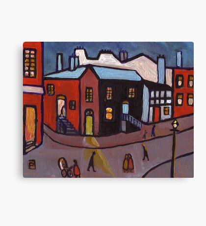 A manchester street scene   Canvas Print