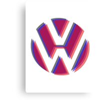 VW Tri Logo Canvas Print