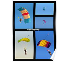 Skydiving Collage Poster