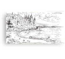 ISLAND BEACH(C2007) Canvas Print
