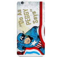 do as peggy says iPhone Case/Skin