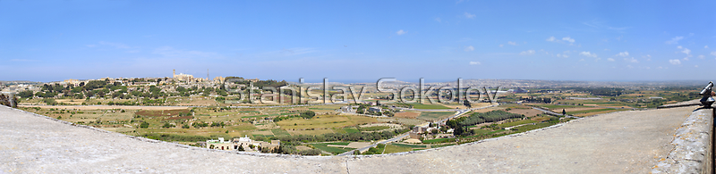 Malta Countryside Panorama  by Stanislav Sokolov