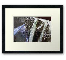 Raindrops keep falling Framed Print