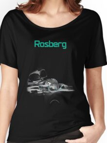 Nico Rosberg 2015 Mercedes F1 Women's Relaxed Fit T-Shirt