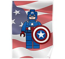 Captain America What a Brick Poster