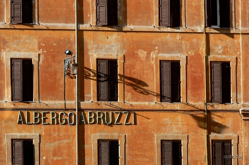 Roman Shutters, Late Afternoon  by outsider