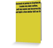 Starbucks Coffee Greeting Card