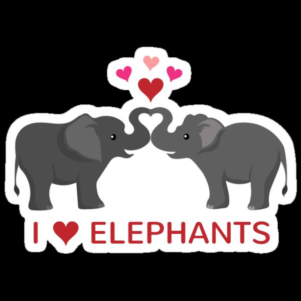 Love elephants heart trunks stickers by for Elephant heart trunk