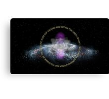 Galactic Core Consciousness Canvas Print