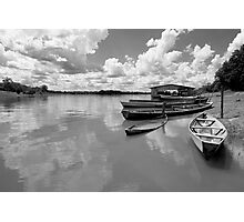 Amazon boats Photographic Print