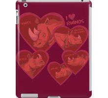 Love Rhinos - multiple species iPad Case/Skin