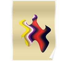 Abstract Color Flame Poster