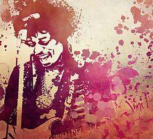 Hendrix guitar by JBJart