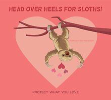 Love Sloths - Head Over Heels by PepomintNarwhal