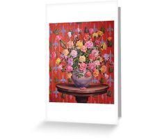Rosas y Ranitas Greeting Card