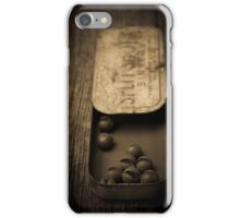 Old Lead Fishing Sinkers In Tin iPhone Case/Skin