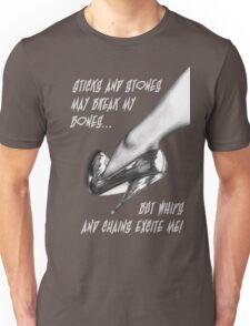 Stiletto-White-text Unisex T-Shirt