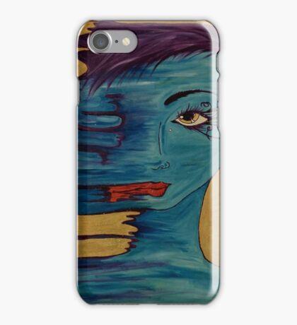 She Smeared Her Lipstick  iPhone Case/Skin