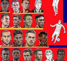 Arsenal Squad 2014-15 by ArsenalArtz