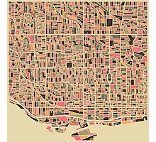TORONTO MAP Photographic Print