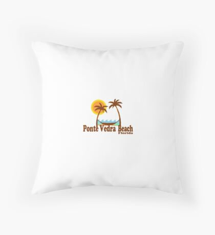 Ponte Vedra Beach - Florida. Throw Pillow