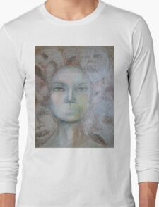 Faces - Portrait In Black And White Long Sleeve T-Shirt