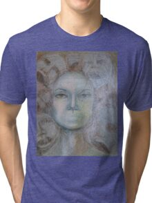 Faces - Portrait In Black And White Tri-blend T-Shirt