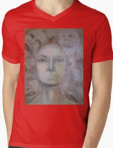 Faces - Portrait In Black And White Mens V-Neck T-Shirt