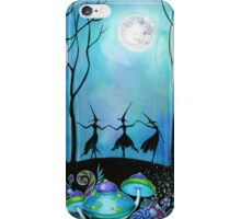 Witches Dancing Under the Moon iPhone Case/Skin