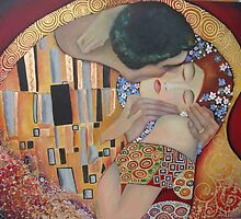 "My interpretation of ""The Kiss"" from Gustav Klimt  by Marilia Martin"