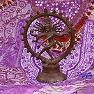 Bronze Shiva on purple  by cascoly